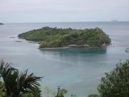 Pulau Rubiah Tampak Dari Jalan Ke KM Nol